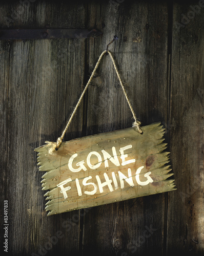 Photo Gone fishing.