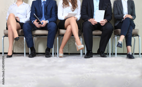 Fotografia  Stressful people waiting for job interview