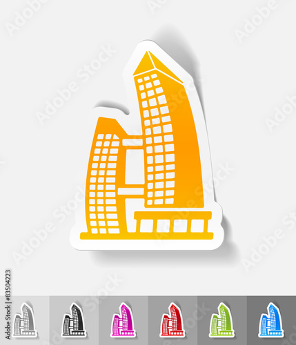Photo  realistic design element. singapore building