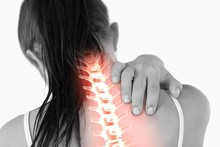Highlighted Spine Of Woman Wit...
