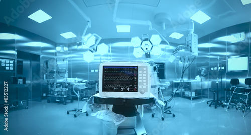 Innovative technology in a modern hospital operating room Tableau sur Toile