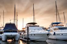 Yacht And Boats At The Marina ...