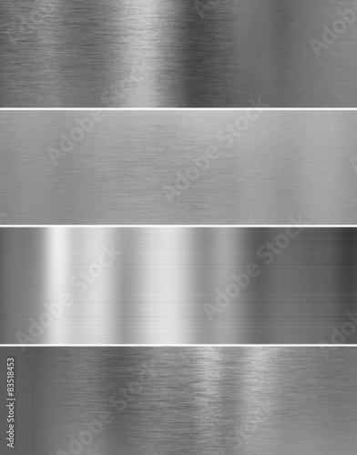 Fotografía  high quality silver steel metal texture backgrounds