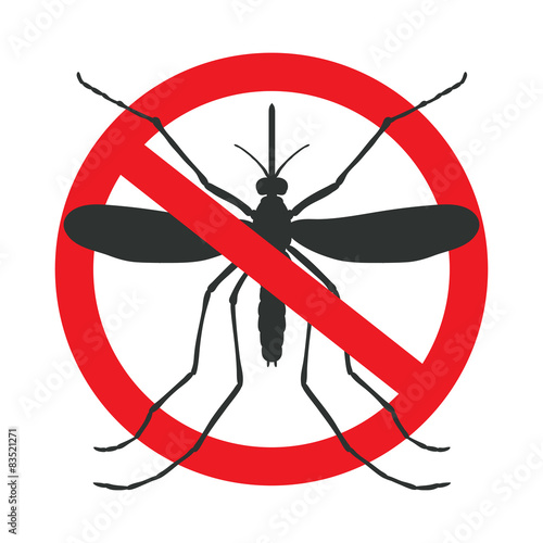 Photo the mosquitoes stop sign - vector image of funny of a mosquito i