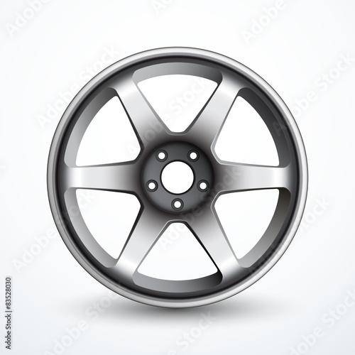 Fotografía  Vector alloy wheel