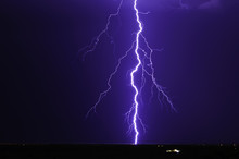 USA, Arizona, Maricopa County, Lightning Over Tonopah
