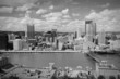 Pittsburgh skyline. Black and white.