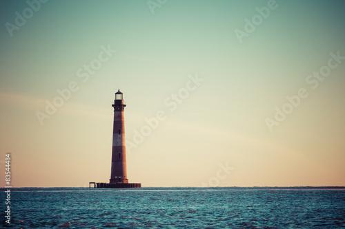 Foto op Aluminium Vuurtoren Morris Island Lighthouse at sunrise
