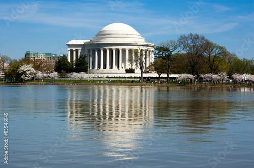 Fotobehang Kersenbloesem Jefferson Memorial