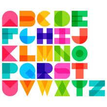 Vector Illustration Of Color Font