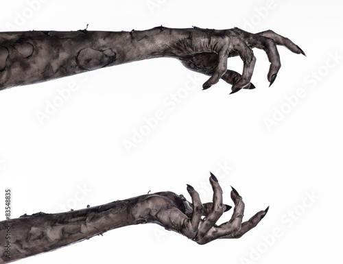 Photo  black hand of death, walking dead, zombie theme,  zombie hands