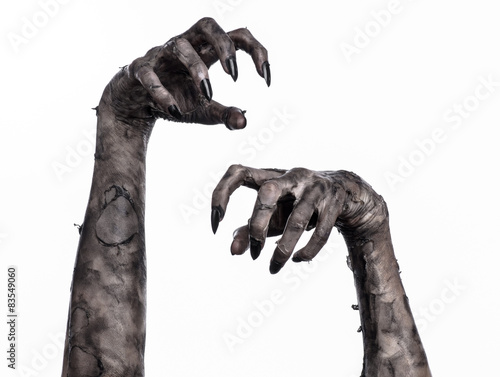 Fotomural black hand of death, walking dead, zombie theme,  zombie hands