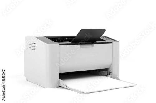 Fotografía  Impresora láser aislado en el fondo blanco