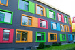 canvas print picture - Colorful facade of building