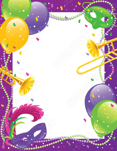 Mardi Gras party frame - Buy this stock vector and explore similar ...