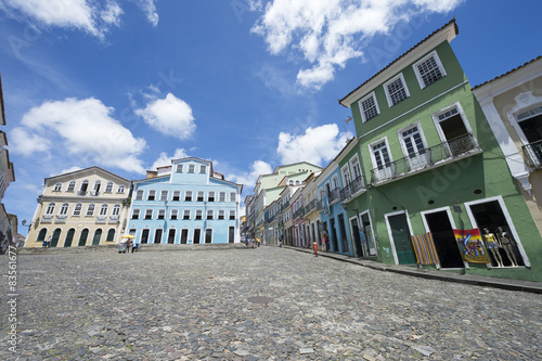Photo  Colorful Colonial Architecture Pelourinho Salvador Brazil