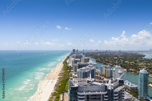 Photo  View down South Beach from the north with the city on the right