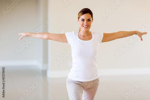 Leinwand Poster  Frau, die Yoga