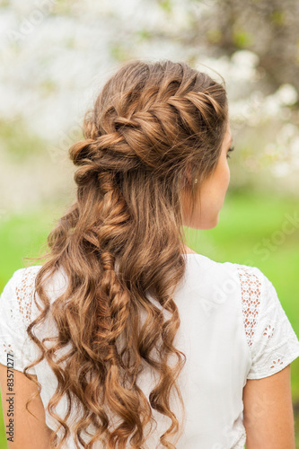 Fotografia, Obraz  Beautiful  braid hairstyle
