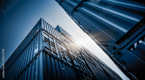Cargo containers Wallpaper Mural