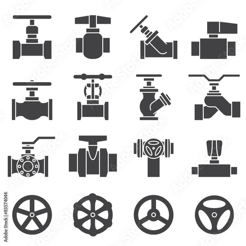 Photo  Valve and Taps icon set