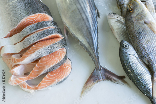 Photo  Salmon in store