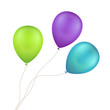 Vector Multicolored Colorful Balloons Isolated
