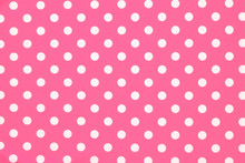 Pink Polka Dot Fabric