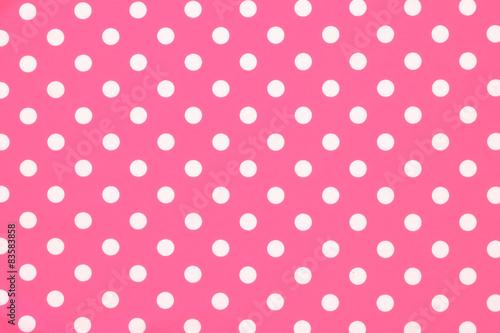 Photo  Pink polka dot fabric