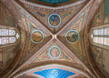 Assisi,Basilica Of St Francis Restored After Earthquake, Italy