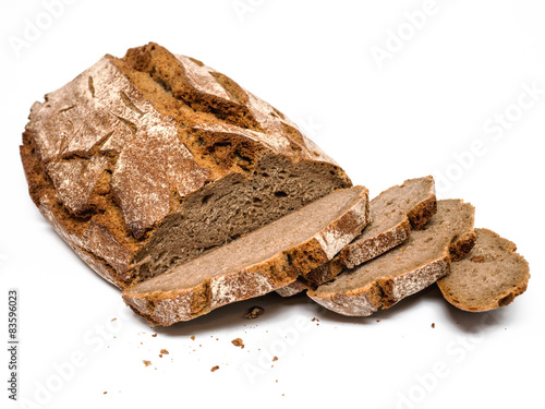 Leinwand Poster Geschnitten Brot