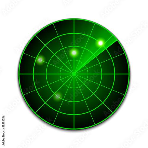 Photo Vector radar icon
