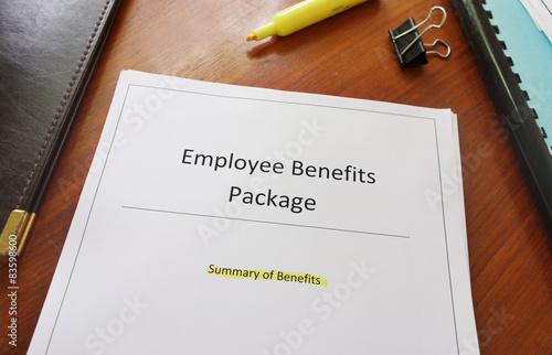 Fotografía  Employee Benefits Package