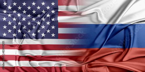 Obraz USA and Russia. - fototapety do salonu