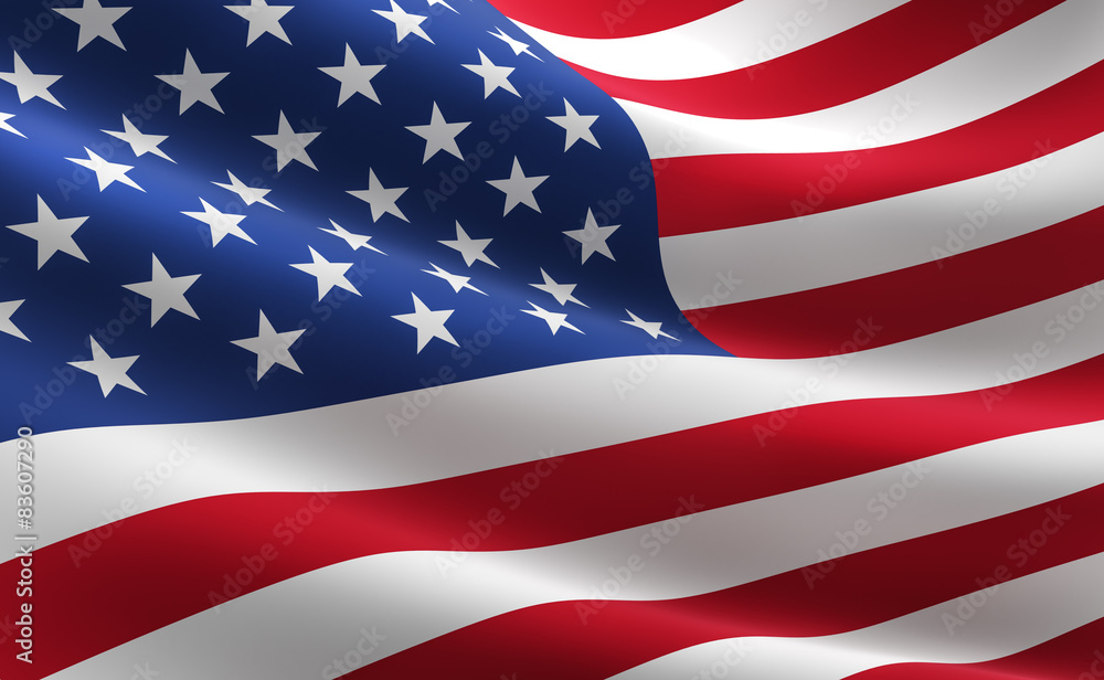 Fototapety, obrazy: Flag of the United States of America