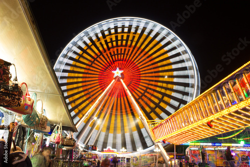 Keuken foto achterwand Carnaval Jahrmarkt Riesenrad