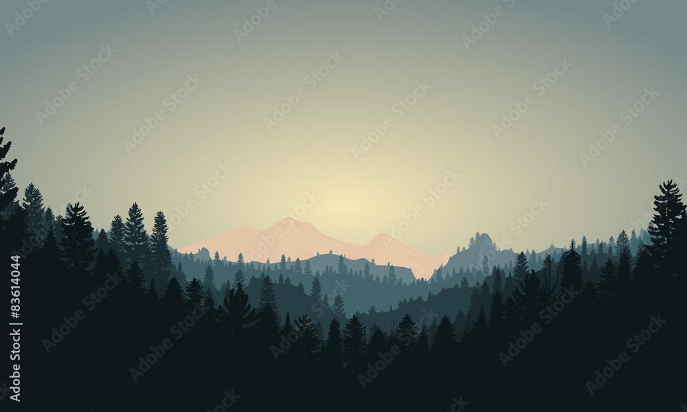 Scena leśna górska <span>plik: #83614044 | autor: bf87</span>