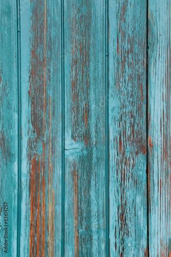 turkusowa-wyblakla-drewniana-sciana
