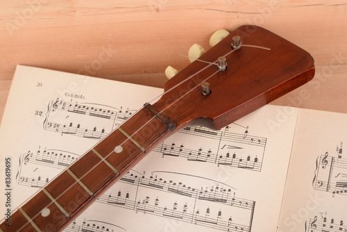 Fotografia MUSICAL INSTRUMENT, GUITAR WITH THREE STRINGS