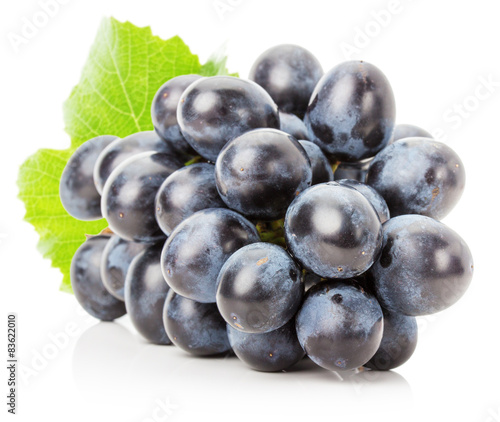 purple grape isolated on the white background Fototapete