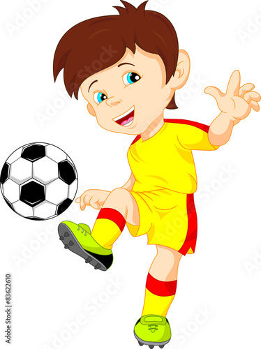Juliste  cute boy soccer player