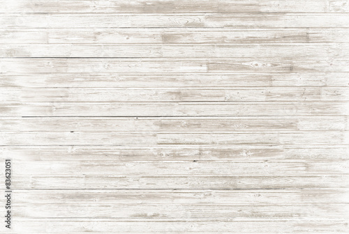In de dag Retro old vintage white wood background