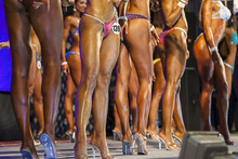 Minsk-Belarus, April, 26: Sexy Legs Of Professional Caucasian Fe