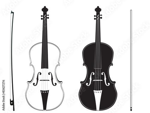 Obraz na plátně Violin Silhouette