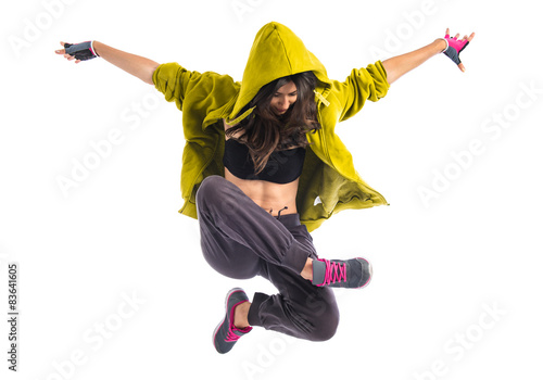 Fotografie, Obraz  Teenager girl dancing hip hop