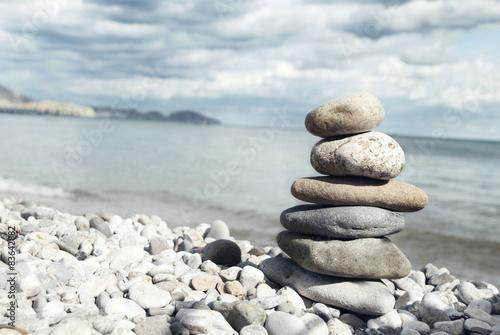 Photo sur Plexiglas Zen pierres a sable Beach Rocks