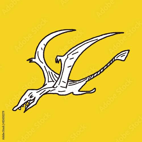 Photo  Pterodactyl dinosaur doodle