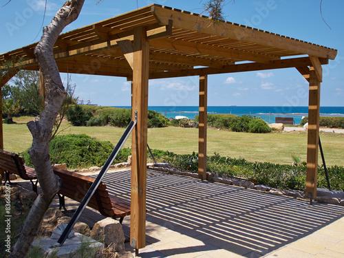 Tablou Canvas Modern classical beach pergola gazebo pavilion