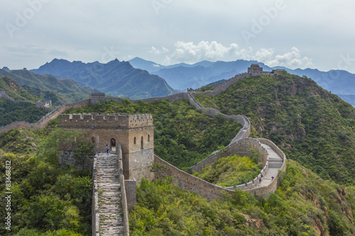 Deurstickers Chinese Muur Great Wall of China JinShanLing