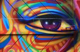 Fototapeta Młodzieżowe - graffiti ojo colores berlín 6187-f15